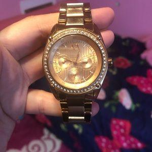 A/X watch rose gold!